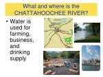 what and where is the chattahoochee river1