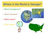 where in the world is georgia