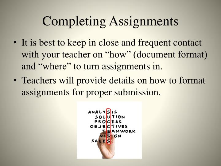 Completing Assignments