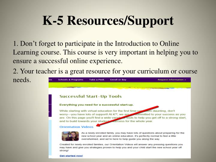 K-5 Resources/Support