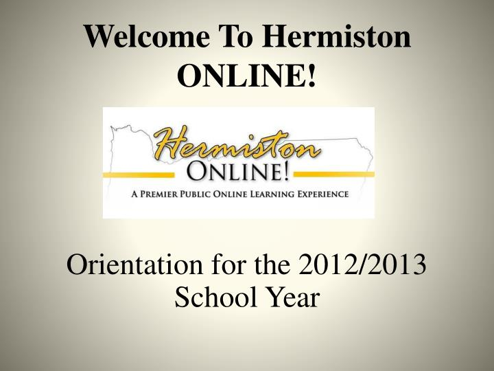welcome to hermiston online n.