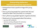 enterprising behaviour and entrepreneurial experience