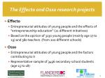 the effecto and osso research projects