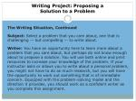 writing project proposing a solution to a problem2