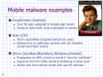 mobile malware examples