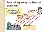 financial reporting and financial statements