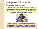 management s interest in financial statements