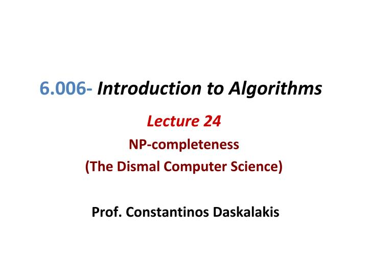 6 006 introduction to algorithms n.