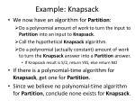 example knapsack1