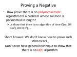 proving a negative