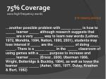 75 coverage 1000 high frequency words