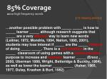 85 coverage 2 000 high frequency words