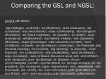 comparing the gsl and ngsl5