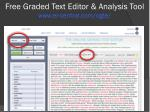 free graded text editor analysis tool www er central com ogte1