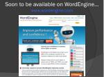 s oon to be available on wordengine www wordengine com