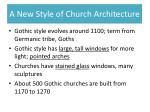 a new style of church architecture