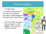 early crusades