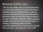 elements of plot intro