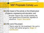nsf proposals convey cont d1