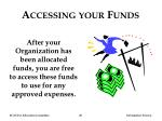 accessing your funds