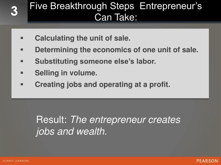 Five Breakthrough Steps  Entrepreneur's