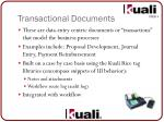 transactional documents