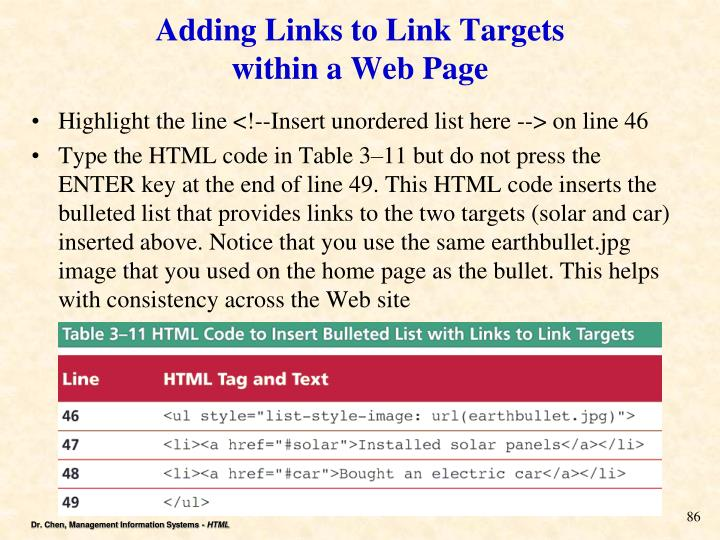 Adding Links to Link Targets