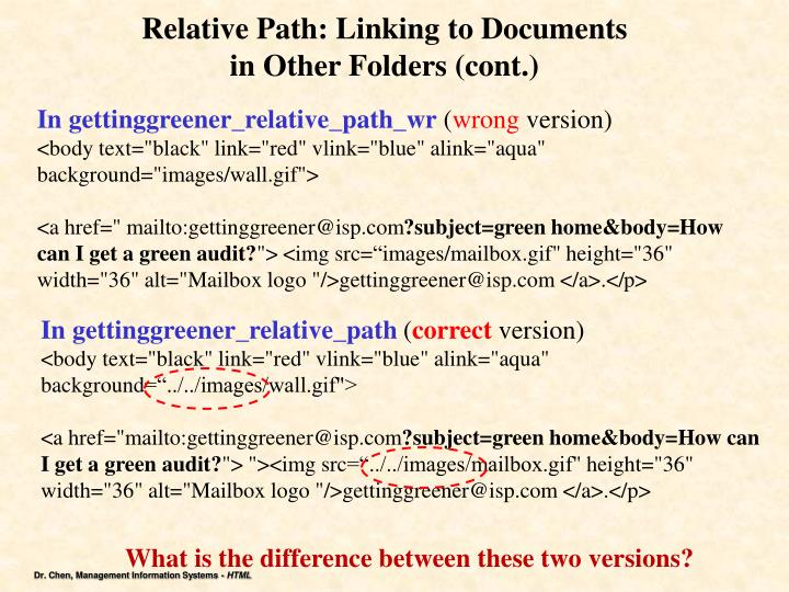Relative Path: Linking