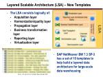 layered scalable architecture lsa new templates