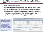 new 7 3 performance and admin monitoring capabilities cont