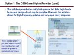 option 1 the dso based hybridprovider cont