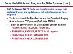 some useful hints and programs for older systems cont