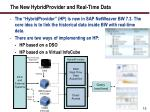 the new hybridprovider and real time data