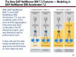 the new sap netweaver bw 7 3 features modeling in sap netweaver bw accelerator 7 2