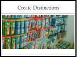 create distinctions
