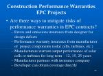 construction performance warranties epc projects1