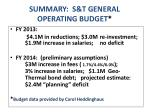 summary s t general operating budget1