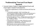 problematizing trust and trust repair research