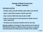 example of model construction problem definition