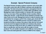 example special products company
