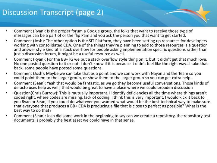Discussion Transcript (page 2)