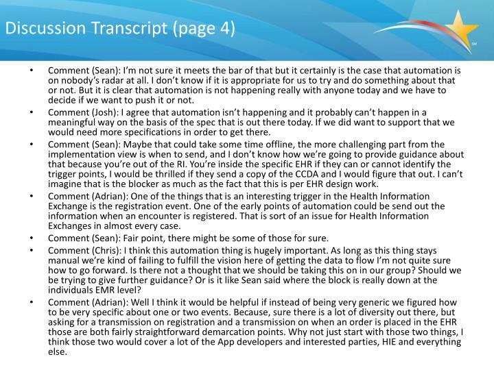 Discussion Transcript (page 4)