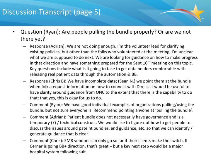Discussion Transcript (page 5)