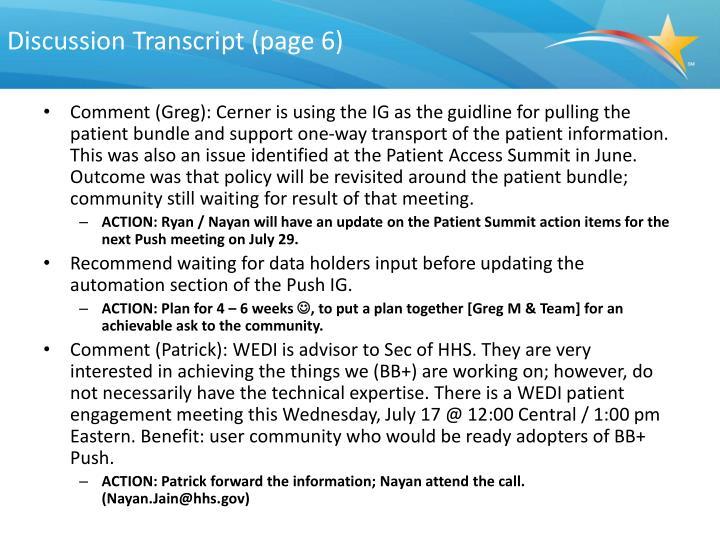 Discussion Transcript (page 6)