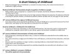 a short history of childhood