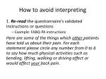 how to avoid interpreting