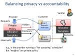 balancing privacy vs accountability