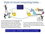 state of cloud computing today