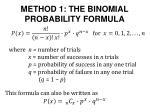 method 1 the binomial probability formula