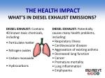 the health impact what s in diesel exhaust emissions